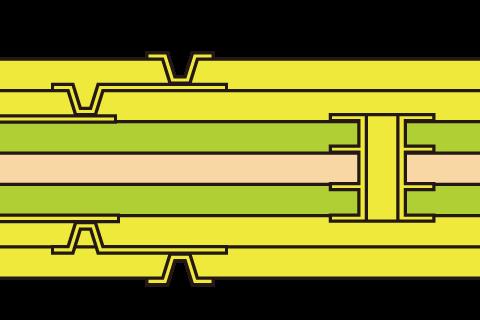 LVH2段 スタッカード接続